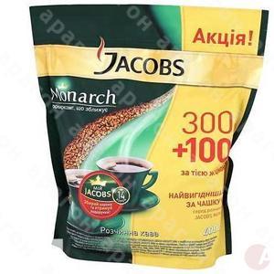 Кофе Якобс Монарх 400г растворимый пакет
