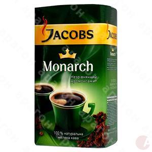 Кофе Якобс Монарх 450г МОЛОТЫЙ ПАКЕТ