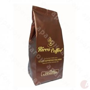 Кофе Ricco Coffee Gold Espresso Italiano Бронза молотый 225г
