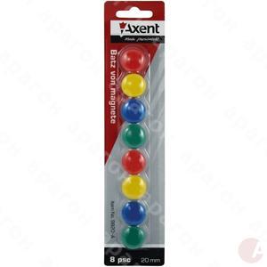 Магниты для доски 8шт 20мм AXENT 9820-A