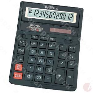 Калькулятор Brilliant BS-777M черный