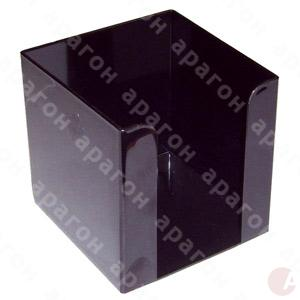 Бокс для бумаги 9х9х9см черный Arnica 83033