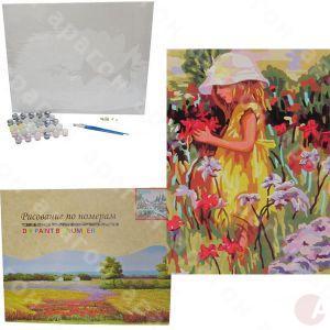 Холст раскраска по номерам G029 На цветочной поляне 40х50 ...