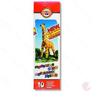 Пластилин 10цв 200г KIN 131504 Жираф
