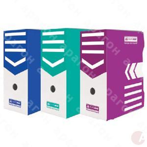 Бокс архивный картон 15см Buromax цветной асс