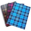 Блокнот А5 48л Шотландка клетка, карт. обл. пруж, сбоку РЕВЕРС TA5.48-18