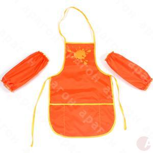 Фартушек для творчества оранжевый с нарукавниками 61490-06