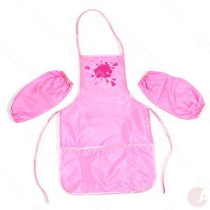 Фартушек для творчества розовый с нарукавниками 61490-09