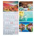 Календарь квартальный 2019 с курсором 3 пружины