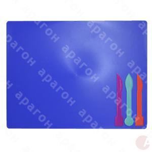 Доска для лепки пластилина + 3 стека для лепки, синяя