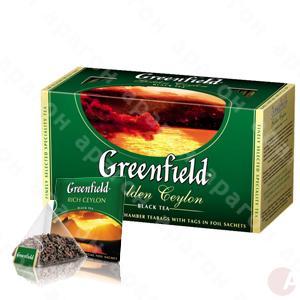 Чай  Гринфилд 25пак черный Голден Цейлон