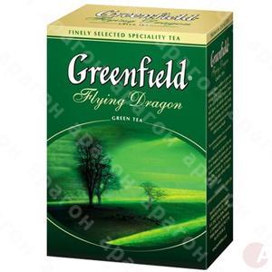 Чай  Гринфилд 100 ГРАММ  зеленый Флаiнг Драгон