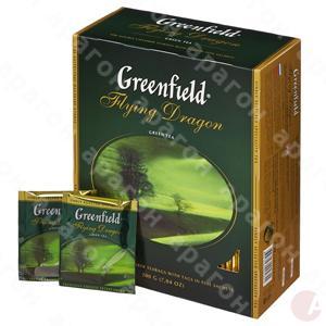 Чай  Гринфилд 100пак зеленый Флаiнг Драгон