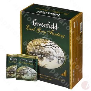 Чай  Гринфилд 100пак черный  с берг