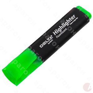 Текстмаркер Highlighter Delta 1-5 мм клиноп. зелен