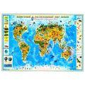 Карта Мира Детская картон/ламинация 100х150см